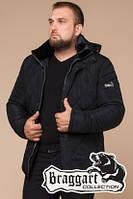 Мужская черная зимняя куртка на меху (р. 46-54) арт. 19121Q