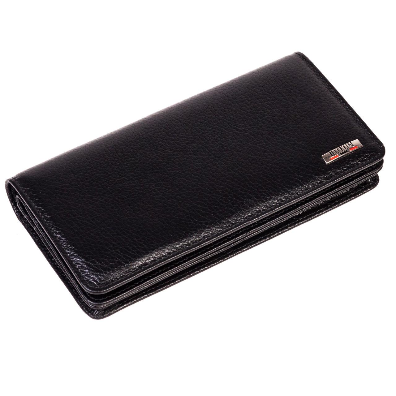 Женский кошелек Butun 641-004-001 кожаный черный