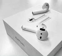Bluetooth наушники Apple AirPods 2 с тач айди и беспроводная зарядка 2019 года Качество 100%.