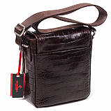 Мужская сумка кожаная коричневая Eminsa 6069-4-3, фото 2