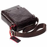Мужская сумка кожаная коричневая Eminsa 6069-4-3, фото 5