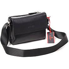 Чоловіча сумка шкіряна чорна Eminsa 6111-18-1