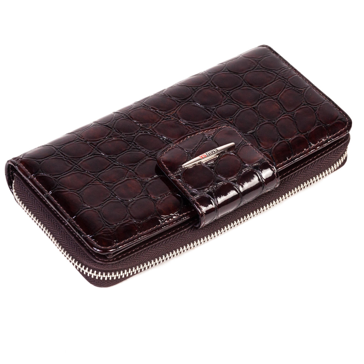 Женский кошелек кожаный коричневый Eminsa 2149-7-3