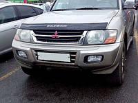 Дефлектор капота (мухобойка) Mitsubishi Pajero 3 с 1998-2006г.в.