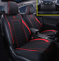 Автомобильные чехлы на сидения GS черный с красной строчкой для Alfa Romeo авточехлы
