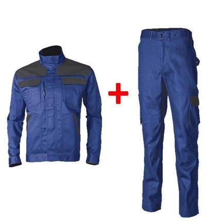Костюм рабочий (куртка + брюки) COVERGUARD COMMANDER синий (размеры L - XXXL), фото 2