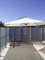 Аренда Зонт с боковой ножкой для сада 3,5 м. диаметр купола. Цвет - бежевый.