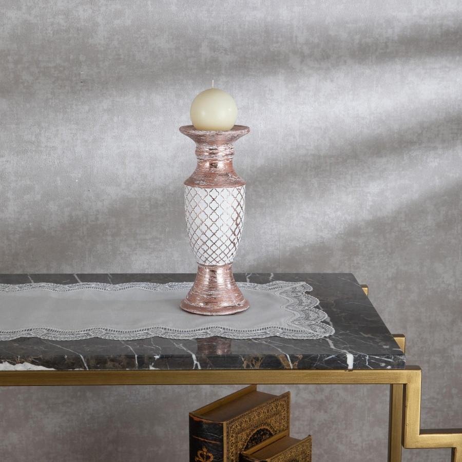 Подсвечник Doreline розовый керамика 26 см