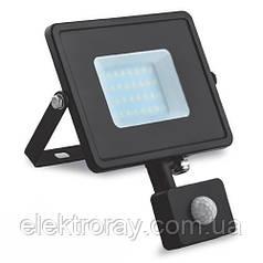 Прожектор светодиодный 10w с датчиком движения 800 Lm 6400k IP44 Feron LL-904