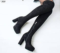 Женские сапоги ботфорты, фото 3