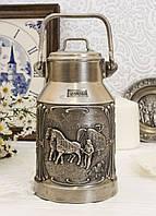 Коллекционный оловянный бидончик, пищевое олово, Германия, фото 1