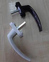 Ручка віконна пластикова біла / коричнева для ПВХ вікон