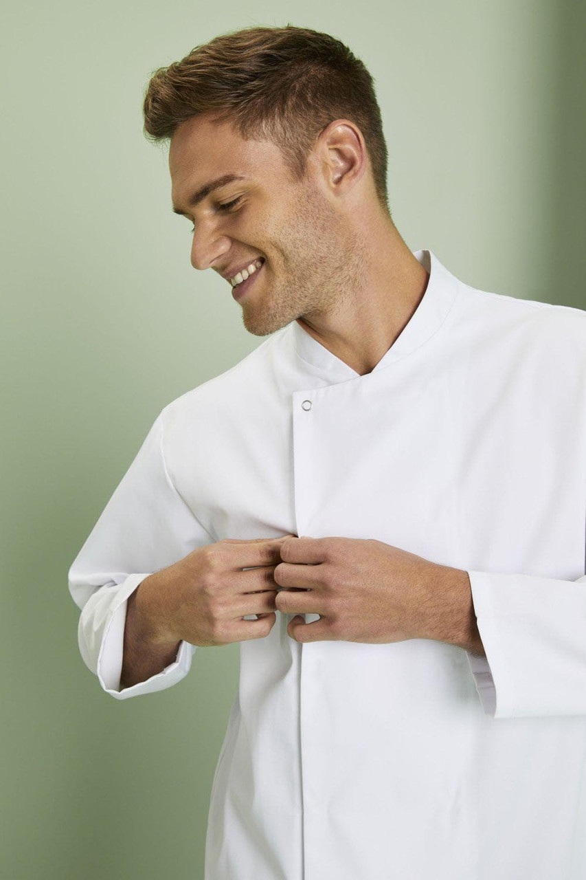 Китель повара мужской белый на потайных кнопках Atteks - 00968