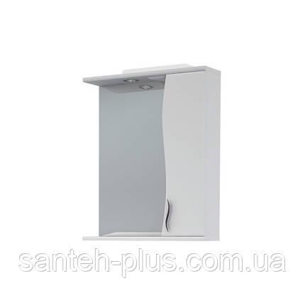 Зеркало в ванную комнату 50 см с пеналом и подсветкой З-1, правое и левое, фото 2