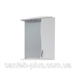 Зеркало в ванную комнату 50 см с пеналом и подсветкой З-1, правое и левое