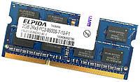 Оперативная память для ноутбука Elpida SODIMM DDR3 2Gb 1066MHz 8500s CL7 (EBJ21UE8BDS0-AE-F) Б/У, фото 1