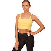 Топ для фитнеса и йоги VSX  (лайкра, р-р S-L-40-70кг, желтый)
