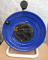 Катушка, под 25м кабеля с розетками 4 шт 16А, IP44 металлическая BM1-2103-0000