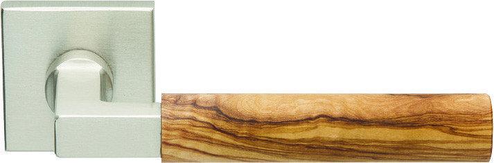 Ручки для дверей Zogometal 2284 нікель матовий/ оливкове дерево