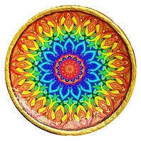 Декоративная тарелка диаметром 37-43 шамотной трипольской глины станет изысканным