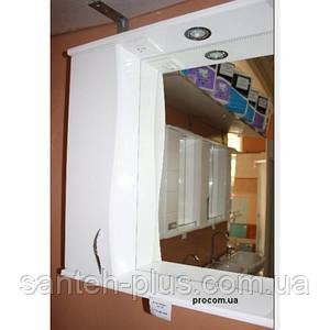 Зеркало в ванную комнату 60 см с пеналом и подсветкой З-1, левое и правое