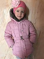 Детская куртка из плащевки с капюшоном и меховой подкладкой