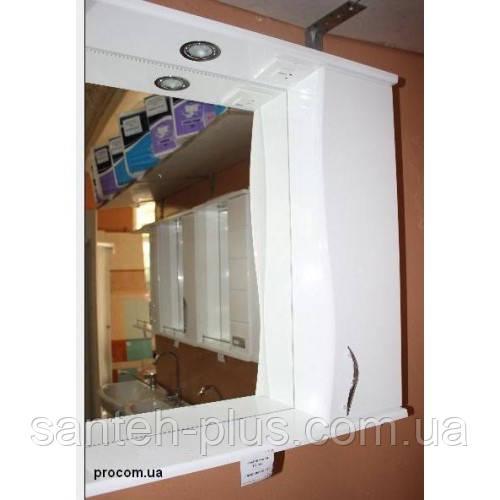 Зеркало в ванную комнату 65 с пеналом и подсветкой З-1, левое и правое