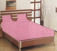 Простынь на резинке трикотаж розовая Турция 180х200+25 см