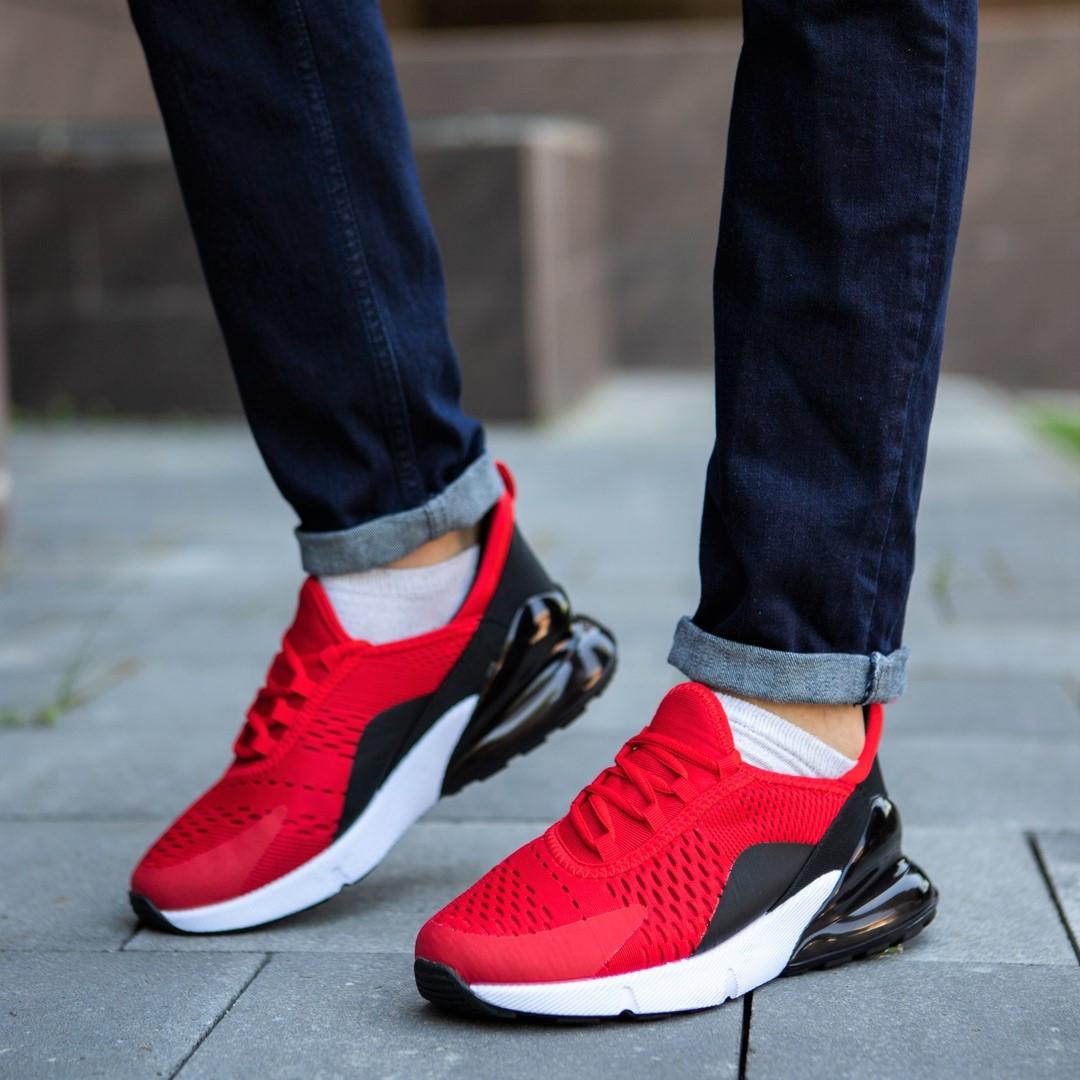 Кросівки чоловічі червоні кроссовки спортивні
