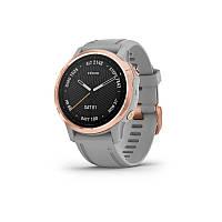 Смарт часы Garmin Fenix 6S - Rose Gold-tone with Powder Gray Band