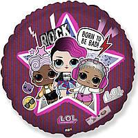 """Фольгована кулька з малюнком 18"""" круг лол рок-група lol Flexmetal"""