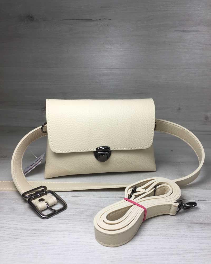 Женская сумка на пояс клатч