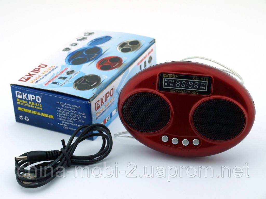 Kipo KB-815 2W стерео колонка, FM MP3, красная