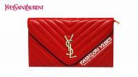 Женский клатч Yves Saint Laurent красный