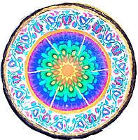 Декоративная тарелка диаметром 27-30 шамотной трипольской глины станет изысканным