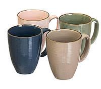 Чашки цветные, набор 4 цвета (400 мл.)