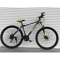 Спортивный велосипед TopRider-611 29 дюймов - 19 рама. Дисковые тормоза. Шимано. Салатовый.