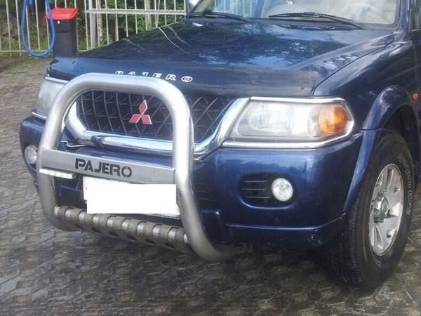 Дефлектор капоту (мухобійка) Mitsubishi Pajero Sport (Montero Sport) з 1998-2007 р. в.