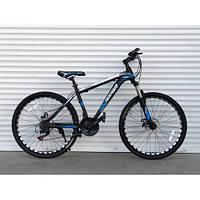 Спортивный велосипед TopRider-611 29 дюймов - 19рама. Дисковые тормоза. Шимано. Синий.