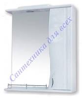 Зеркало в ванную комнату 50 с пеналом и подсветкой, З-1/1, левое и правое