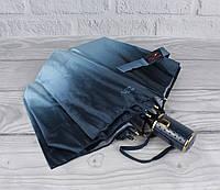 Красивый качественный складной зонт полуавтомат Popular 423-3Р сине-голубой, фото 1