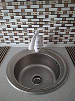 Кухонная мойка нержавеющая Platinum 490 Satin 0,8мм матовая