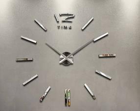 """Часы клеятся на стену 3D """"DIY"""" от 60 до 90 см (ZH522-S)"""