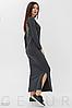 """Осеннее платье с большой аппликацией """"крылья"""" из пайеток на спинке цвет зеленый, фото 2"""