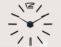 """Часы настенные 3D """"DIY"""" от 50 до 70 см цвет черный (ZH522-B)"""