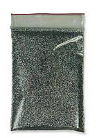 Глиттер темное серебро пакет 50 г 1/128. (0,2 мм)  (блестки, песочек)