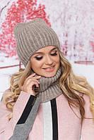 Комплект шапка и шарф-хомут в 8ми цветах 4704-7, фото 1