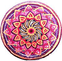 Декоративная тарелка диаметром 37-43 см шамотной трипольской глины станет изысканным