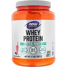 """Сывороточный протеин NOW Foods, Sports """"Whey Protein"""" со вкусом клубники (907 г)"""