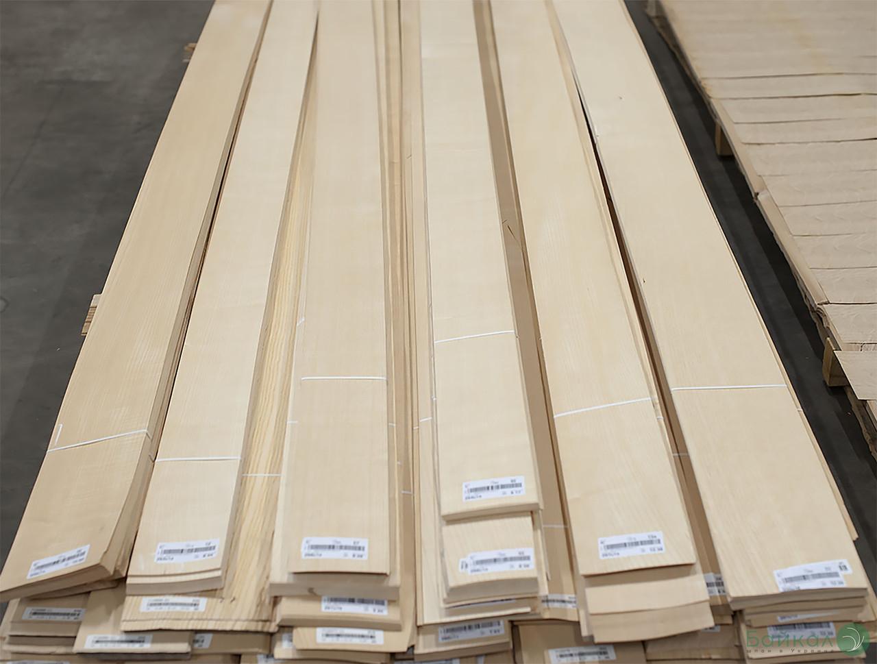 Шпон Ясень Белый (Европейский) 0,60 мм АВ/В сорт - 0,8-2,0 м/10 см+